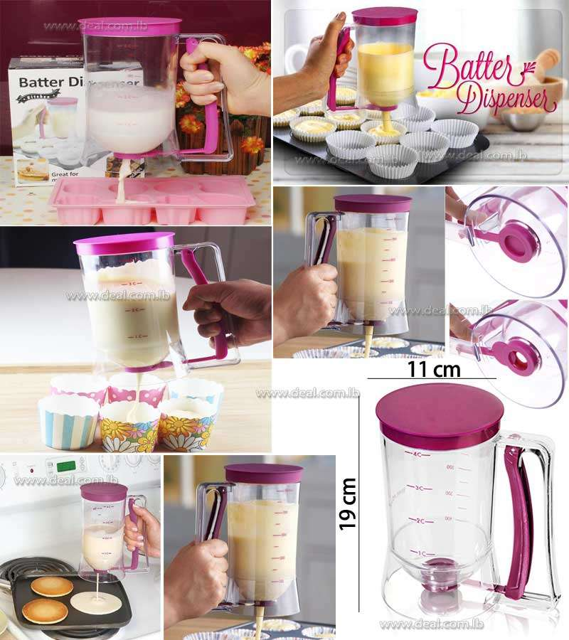 Cake Batter Dispenser Baking Tool 900ml Capacity Pancakes Muffin