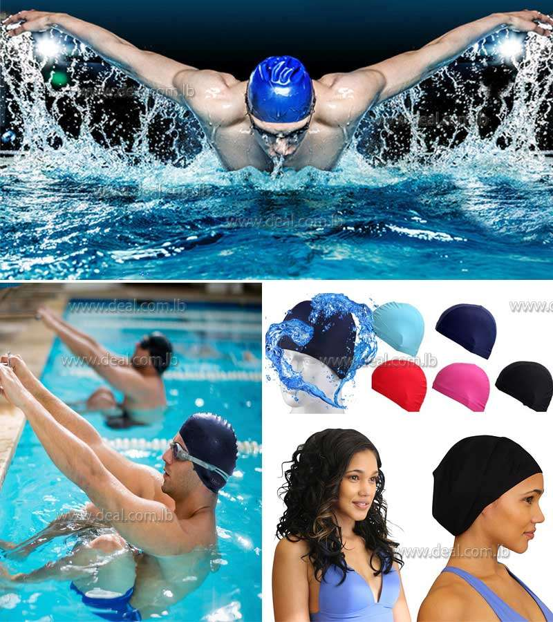 Waterproof Silicone Slip On Comfort-Fit Design High Quality Swim Cap For Longer Hair & High Volume Hair Styles  A Nice Addition To Your Swimming Equipment Accessories