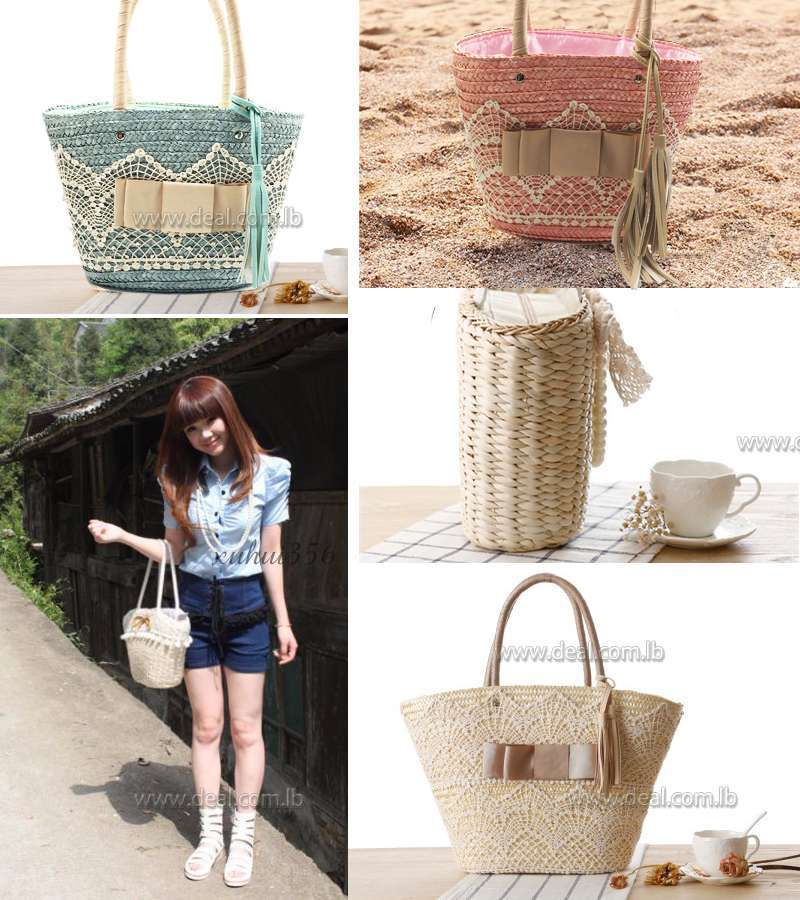 Small size Stone srore New Intellectual Fashion Ladies Handbags Fringed Shoulder Bag Woven Straw Bag Beach Bag