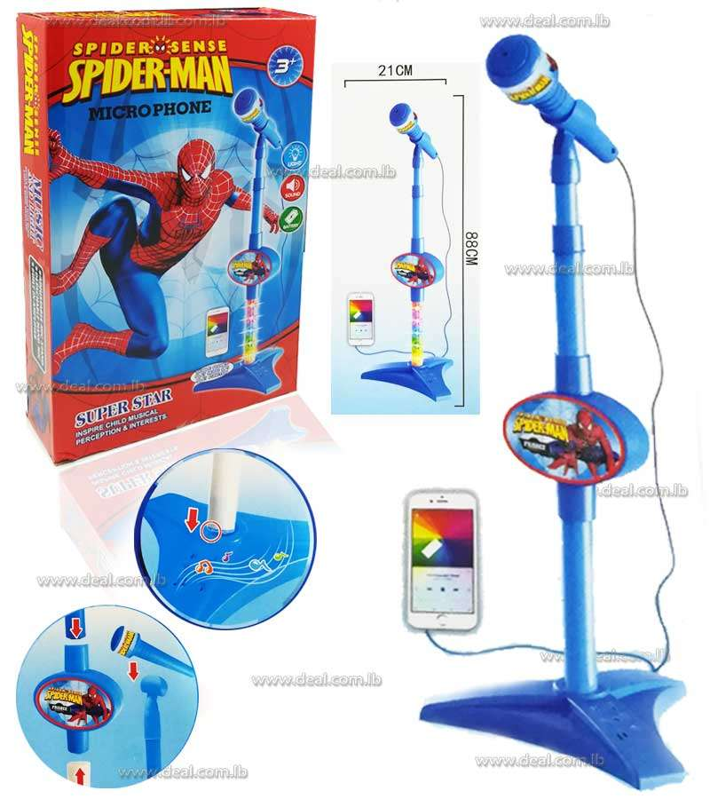 Microphone Spiderman Connecting To Phone