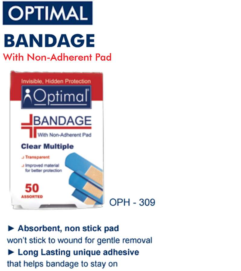 Optimal Clear Multiple Bandage with Non-Adherent Pad (50 PCS )