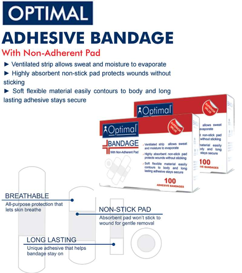 Optimal Adhesive Bandage (100 PCS )