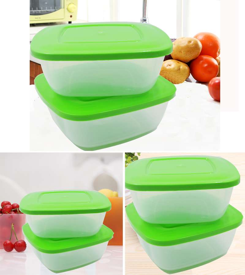 2 PCS Fresh food container with lid cover