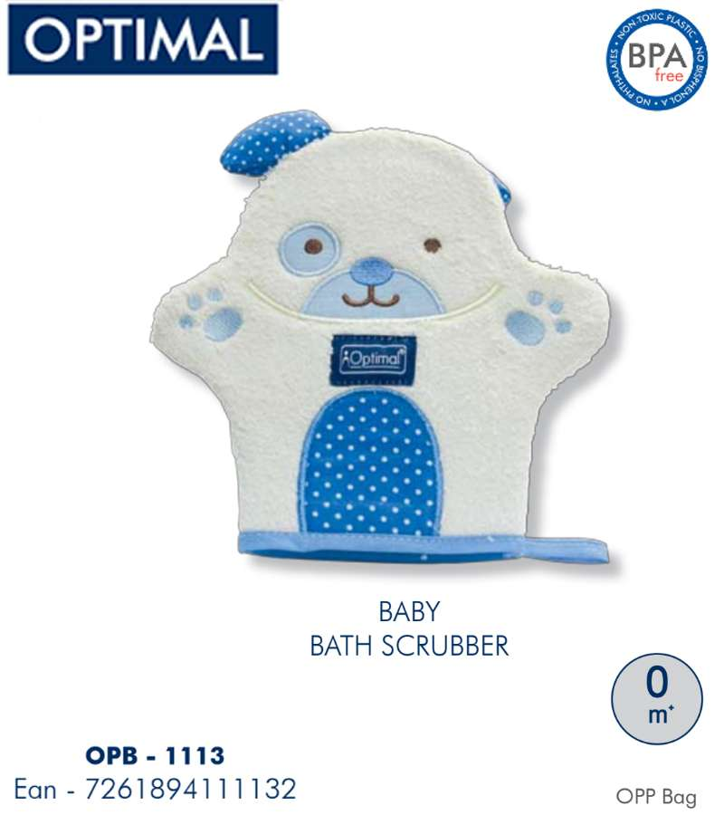 Blue Dog shape Bath Scrubber 0M+