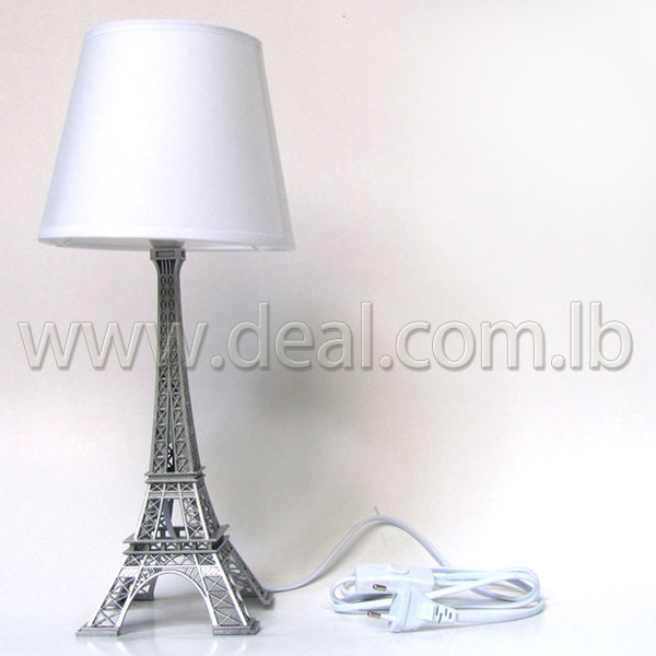 WHITE Eiffel Tower Table Lamp