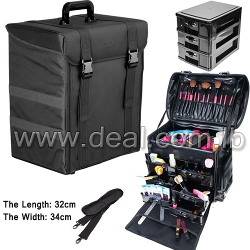 Carry on Professional Makeup Case with Removable D