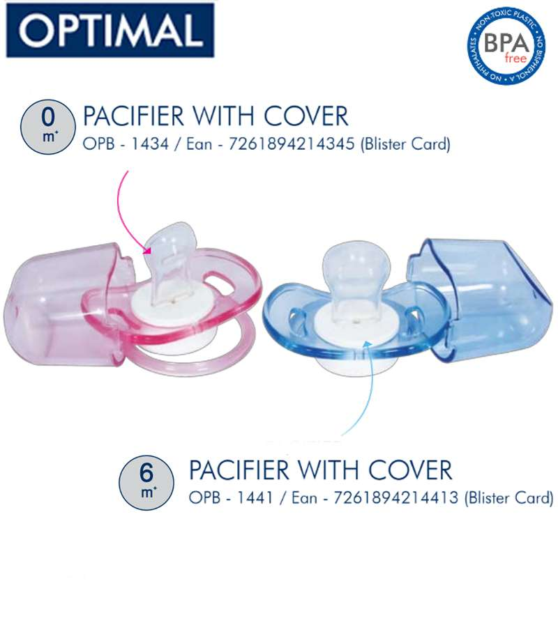 Silicone Orthodontic Pacifier 0M+ & 6M+