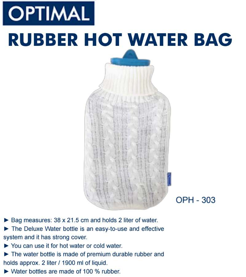2L Rubber Heat Water Bag with Knitted Cover