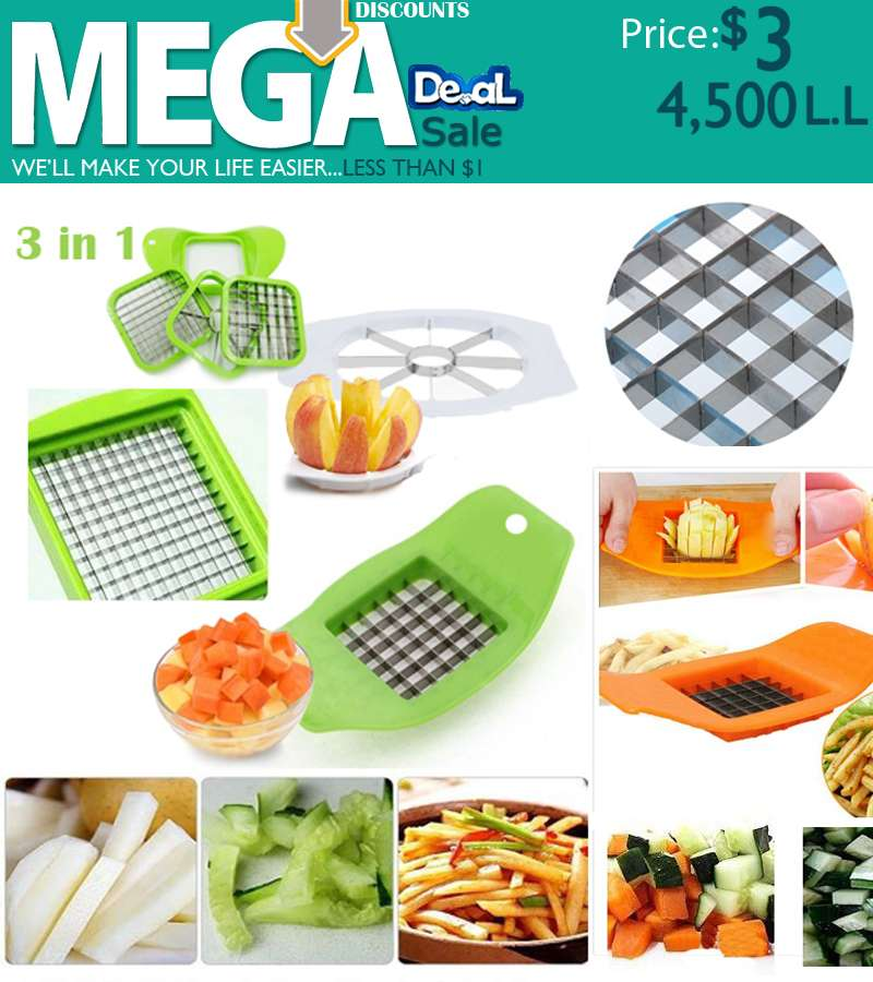 3 in 1 Slicer Stainless Steel Multi usage Cutter