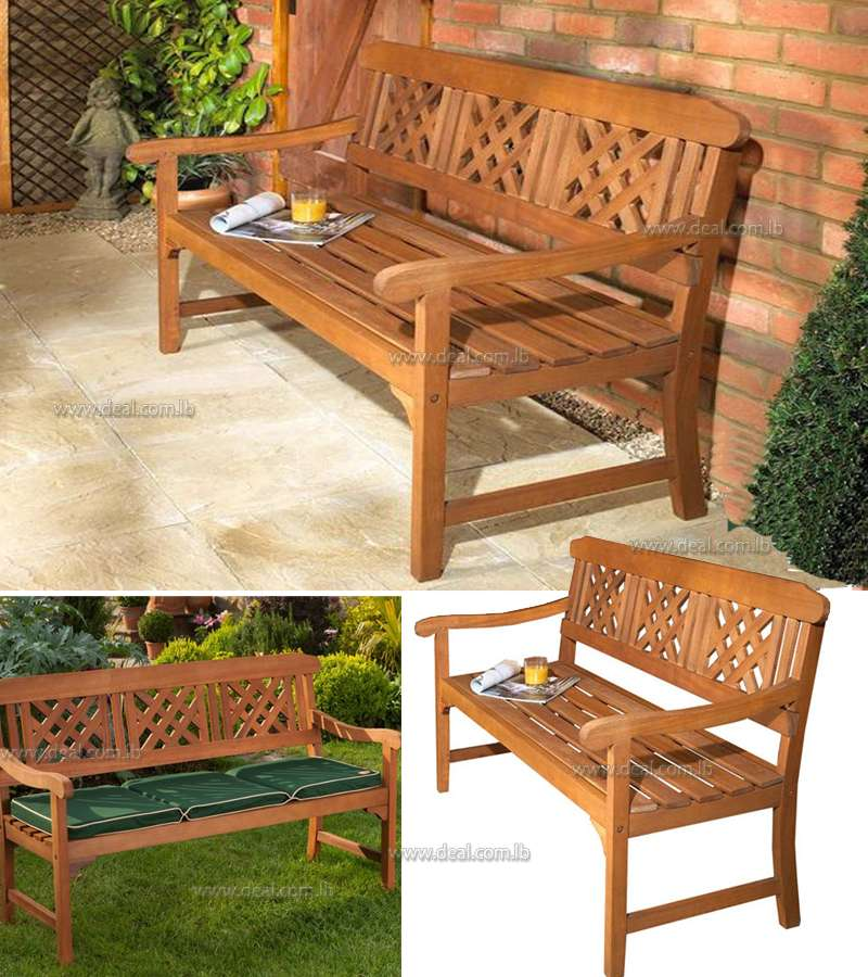 3-Seater Garden Fence Bench