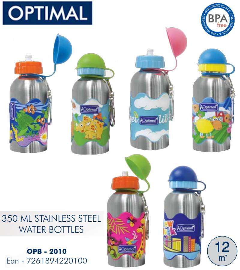350ml Stainlesss Steel Water Bottle 12M+
