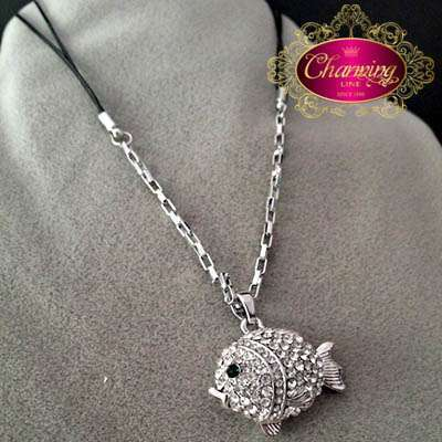 White Gold plated Fish necklace