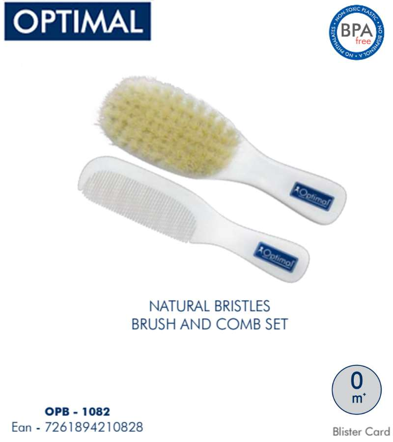 Natural Bristles Baby Brush & Combo Set 0+ Month