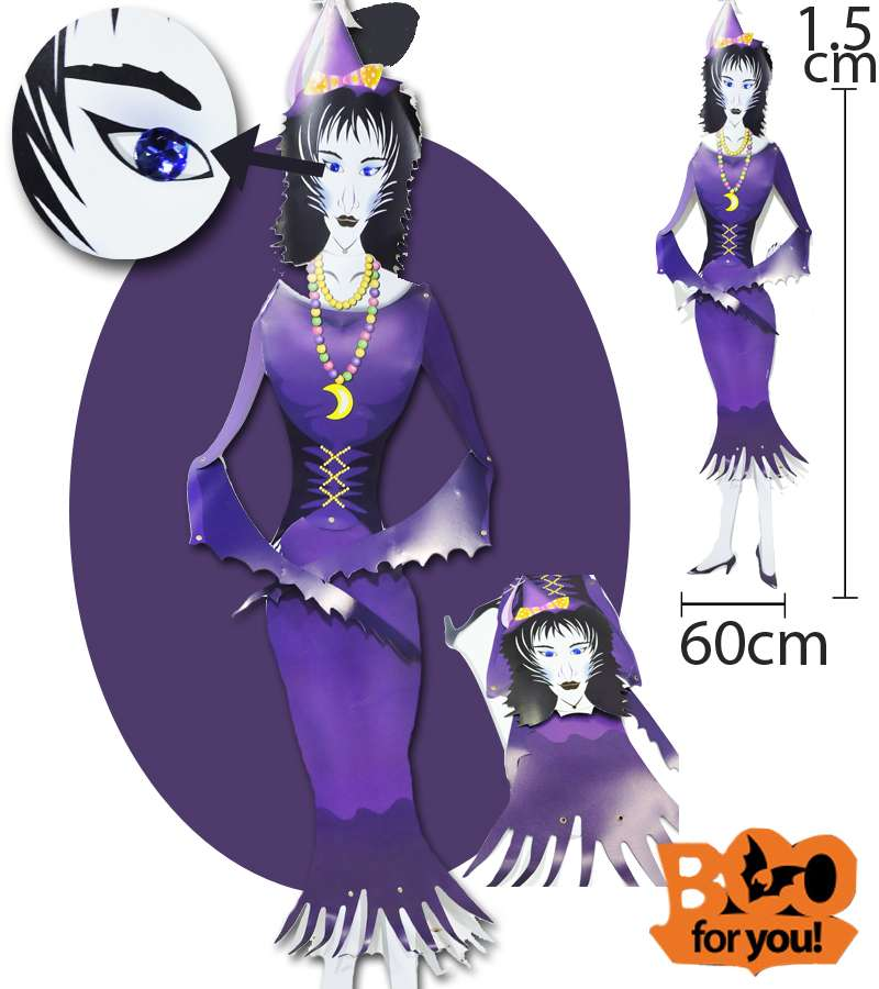 60*1.5 m Purple Girl Jointed Hanging Character