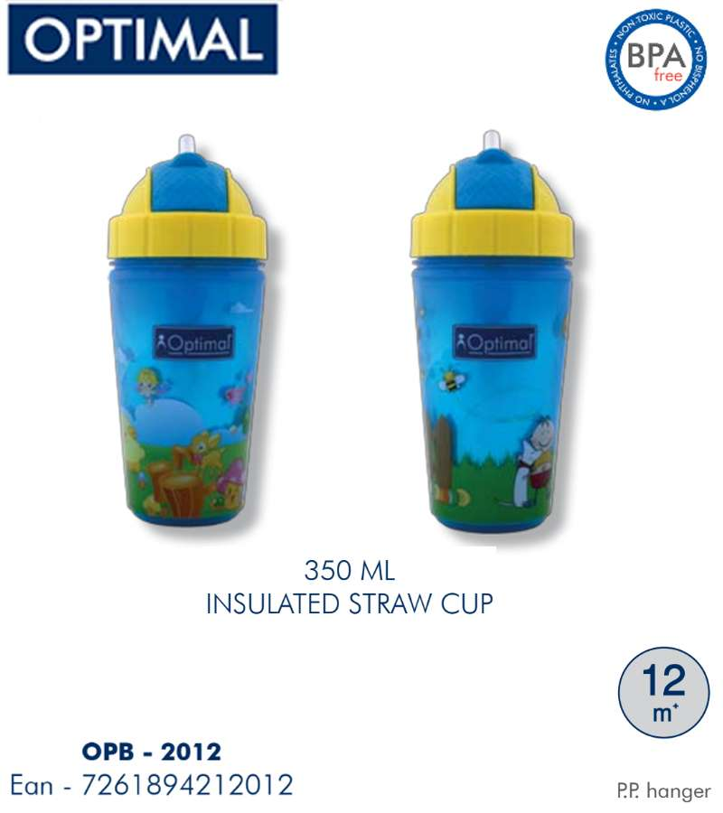 350ml P.P. Insulated Straw Cup