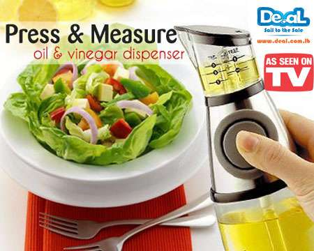Press and Measure Oil and Vinegar
