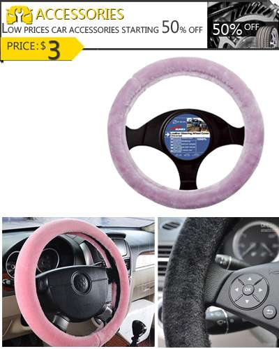 39 cm Car Steering Wheel Glove Cover Fuzzy
