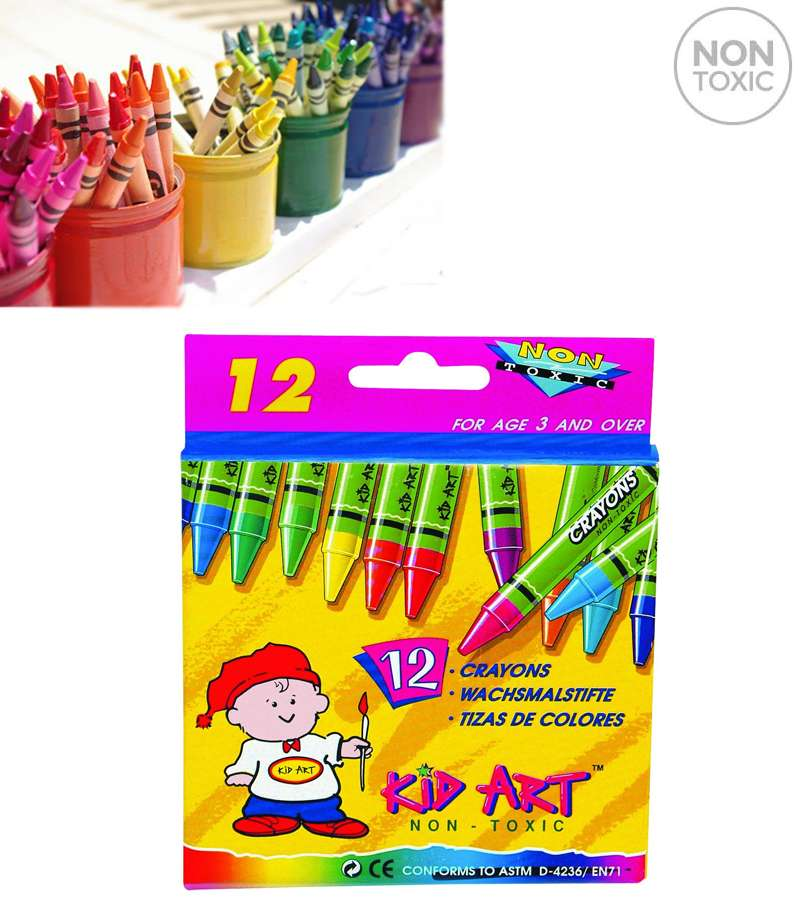 Kid Art Wax Crayons 12 Color