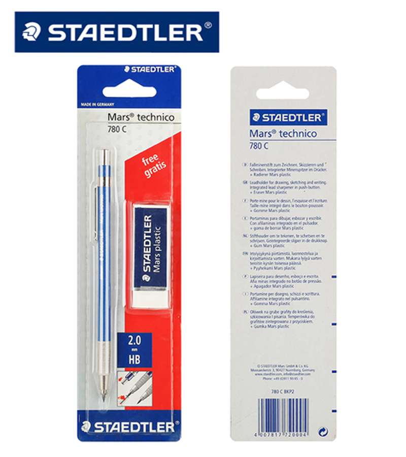 Staedtler Mars technico 780C pencil BKP2 (Attached pencil eraser)