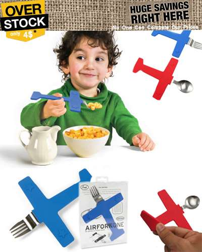 Airplane and Spoon fork good for children