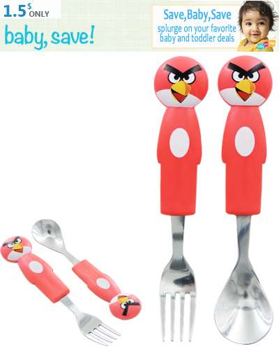 Angry Bird Spoon And Fork