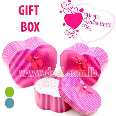 3PCS APPLE SHAPED Gift Box