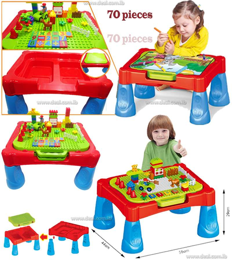 Building block table toy