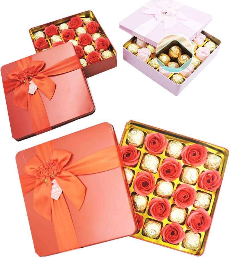 Rectangular flowers Chocolate Gift Box