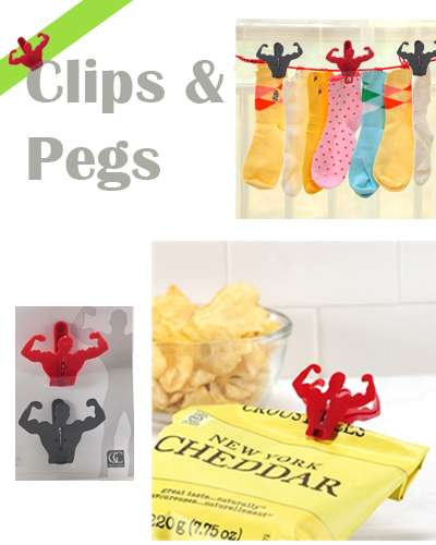 Clips and pegs