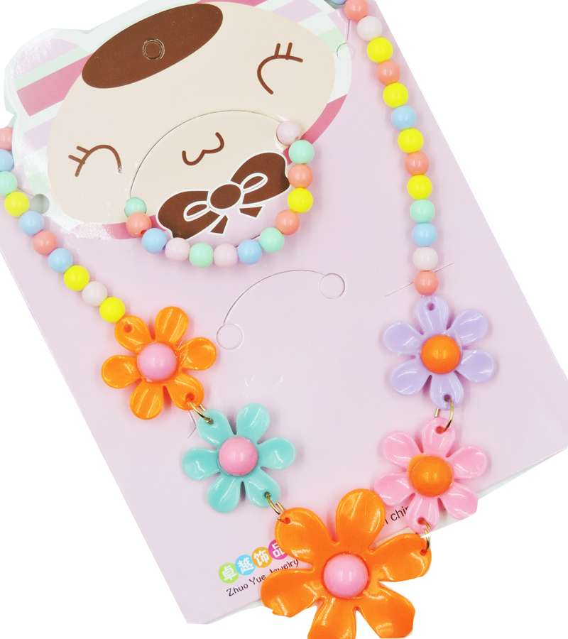 Candy color Handmade Children Beads Jewelry Set Baby Child Kids Necklace