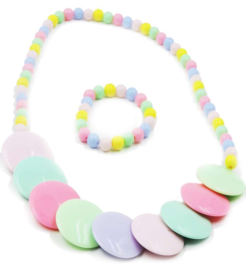 Candy color Handmade Children Beads Jewelry Set Baby Child Kids Simulated Pearl Necklace