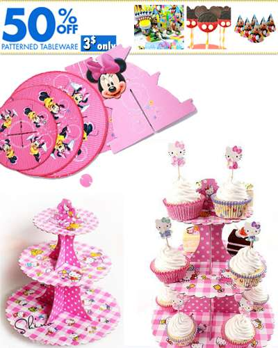 Cartoon Cupcake Holder 3 Layer Plate Party Decorat