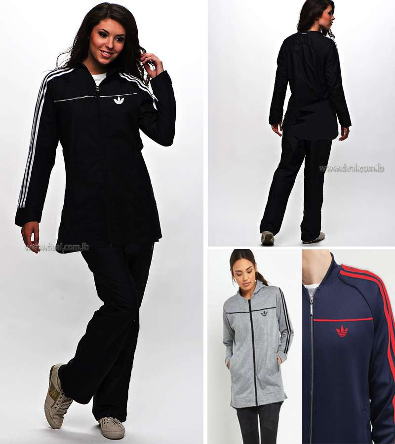 Casual Women Sport Suit with Pants Tracksuit Long Adidas Tracksuit