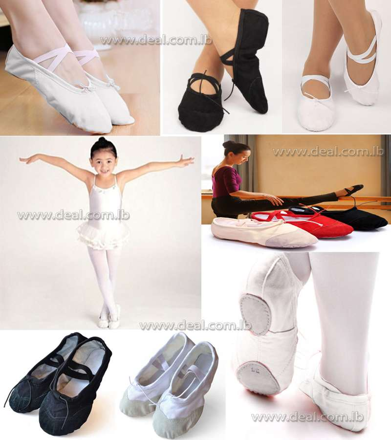 Child Adult Canvas Ballet Dance Shoes Slippers