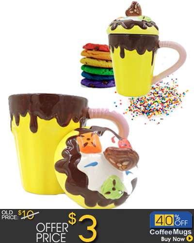 Chocolate Cup Ice cream Mug with cover