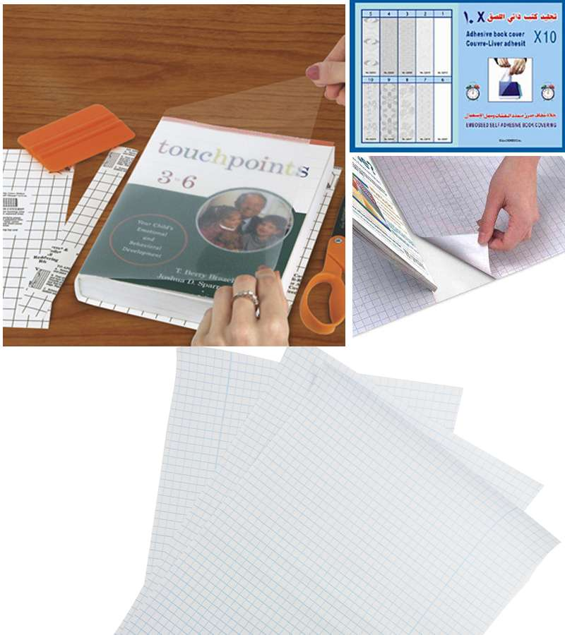 10 PCS Dolphinfix Clear Self  Adhesive Book Covering 36*50cm