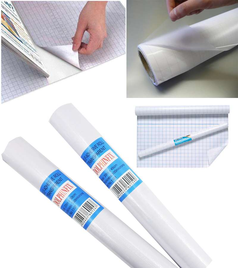 20m*45cm Self Adhesive Roll Transparent