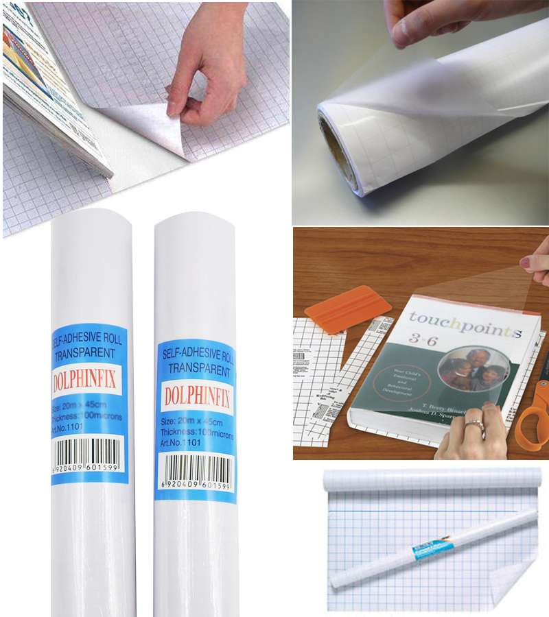 20m*50cm Self Adhesive Roll Transparent
