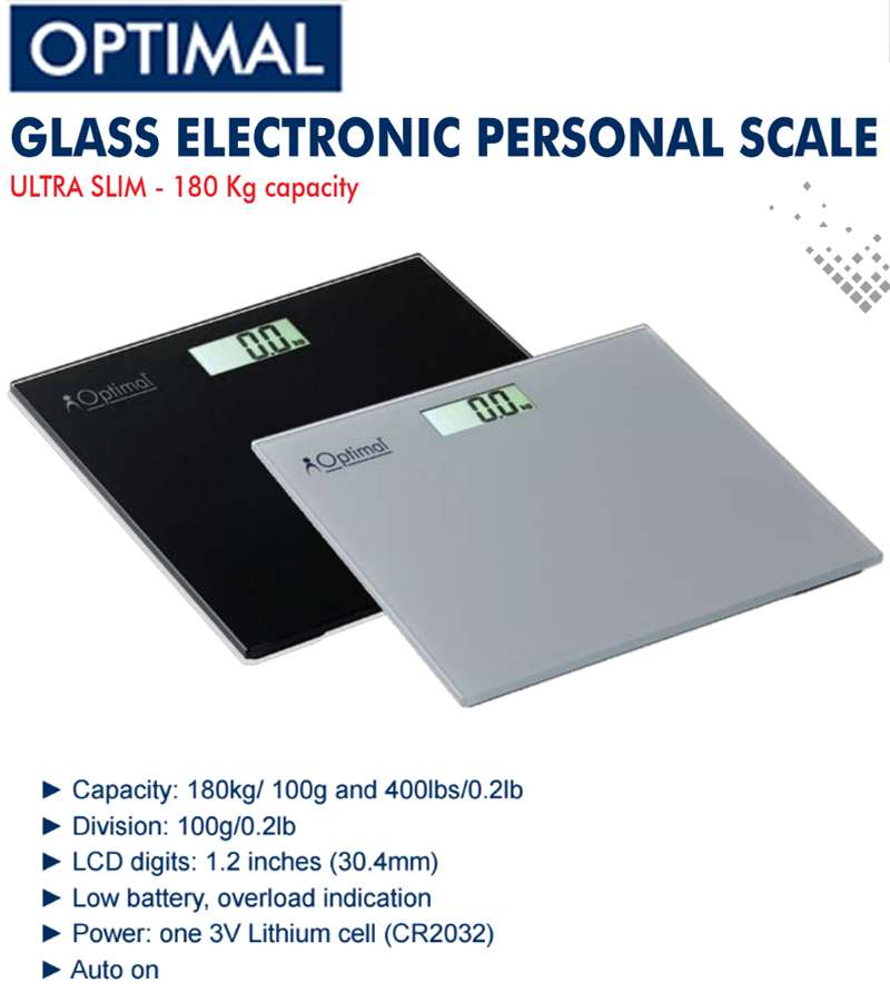 Glass Electronic Personal scale 180kg
