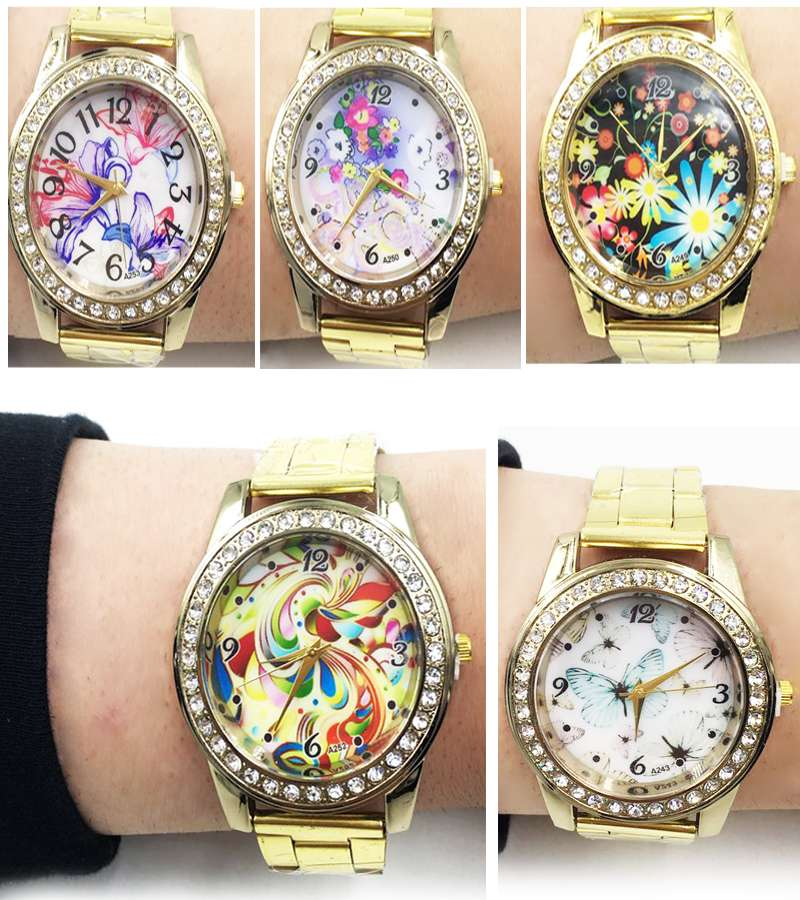 Gold Plated Casual Girls character watches