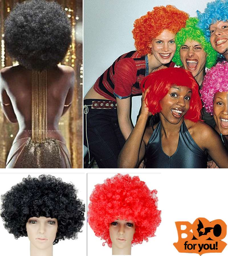 Halloween Party Curly Wigs Colorful Cosplay Hair Funny Wig