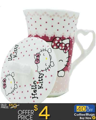 Hello Kitty Ceramic ceramic  Mug Coffee Cup with C