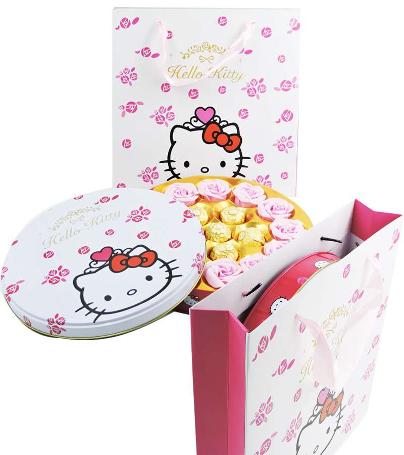 Hello kitty  Round Chocolate Gift Box with bag