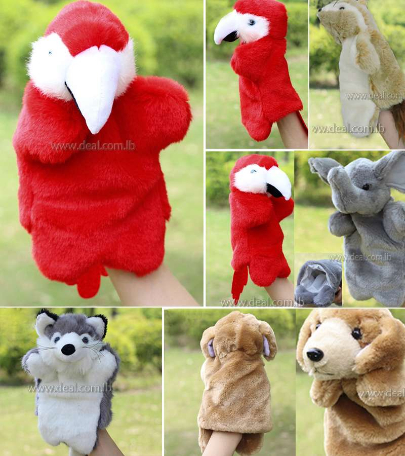 Hand puppets for kids plush puppet toys puppet large animal cartoon finger puppets