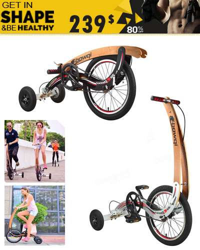 Invention Bike Fitness Sports Riding Bicycle No Seat Exercise Weight Loss Fat Burning