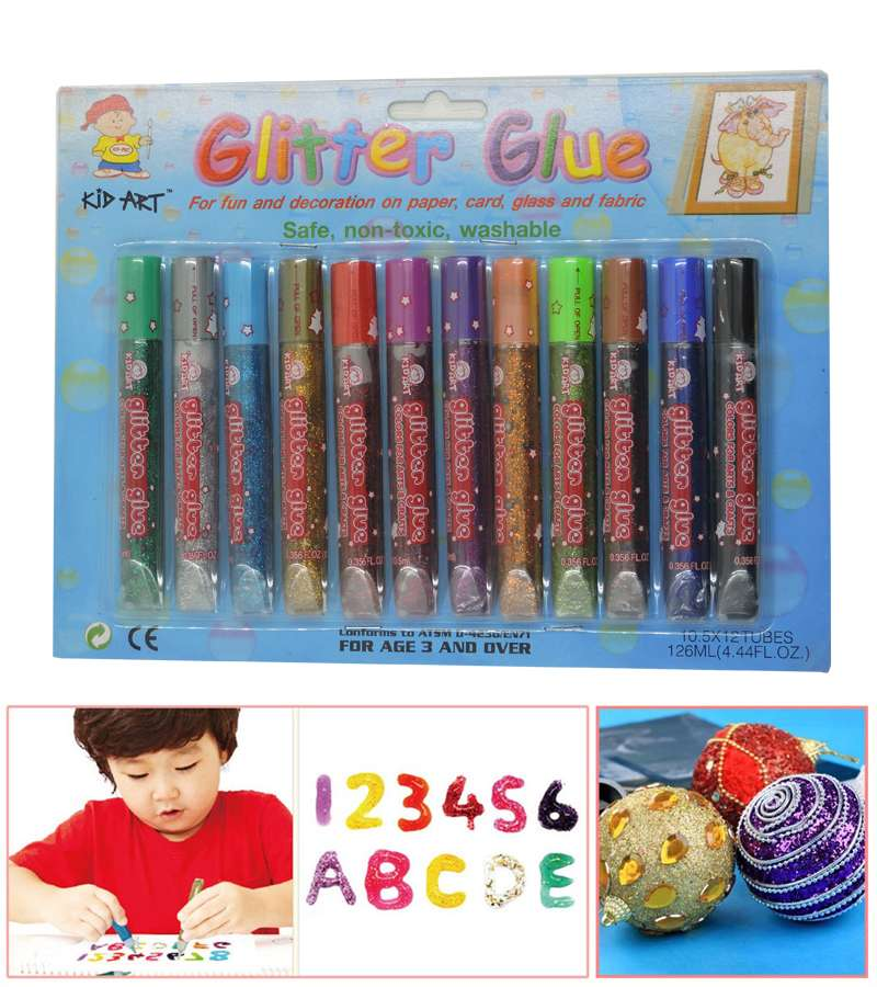 KID ART Glitter Glue 12x10.5ML