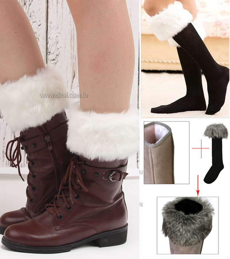Ladies Winter Thick Thermal Wellington Wellie Ski Walking Fur Boot Fleece Socks