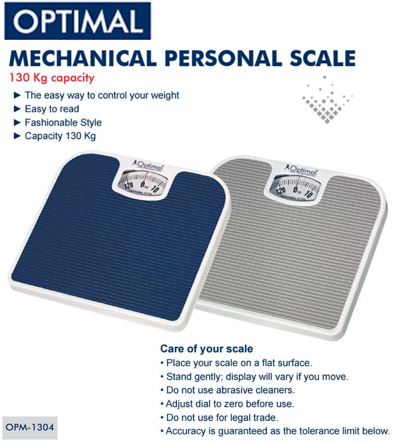 Mechanical Personal scale 130 kg Capacity