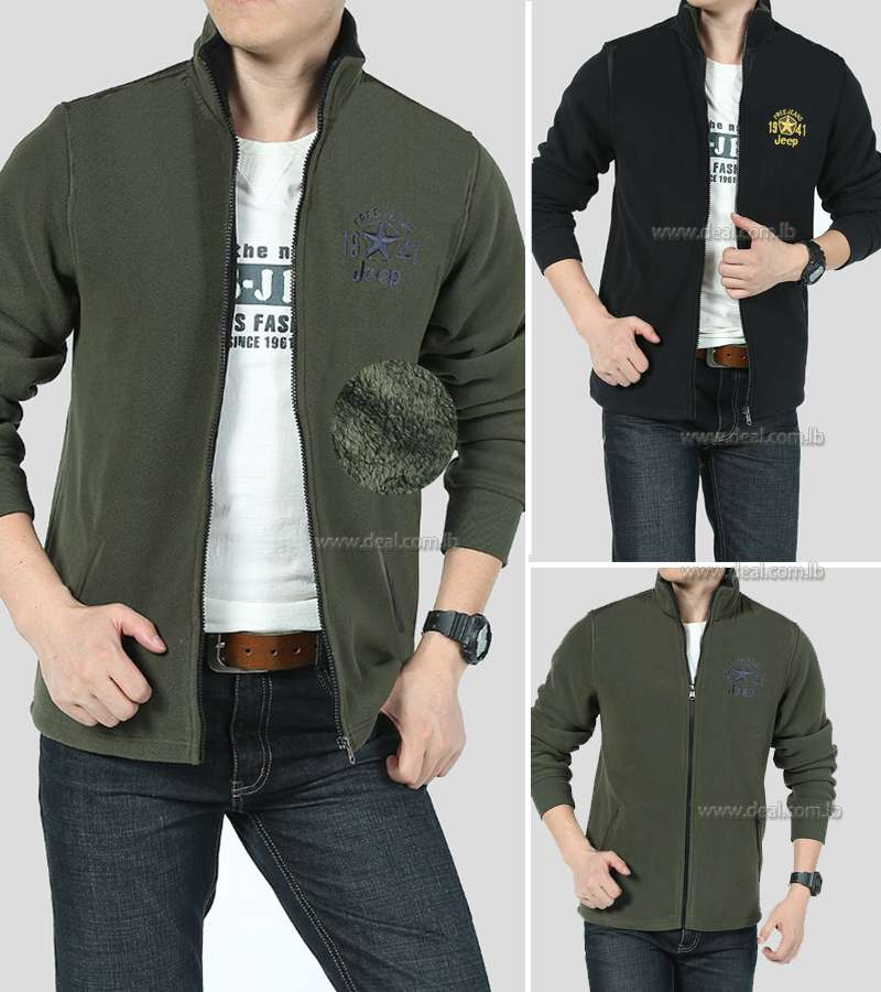 Mens Cashmere Inner Winter Cardigan Fleece Jacket Patchwork Casual Outwear