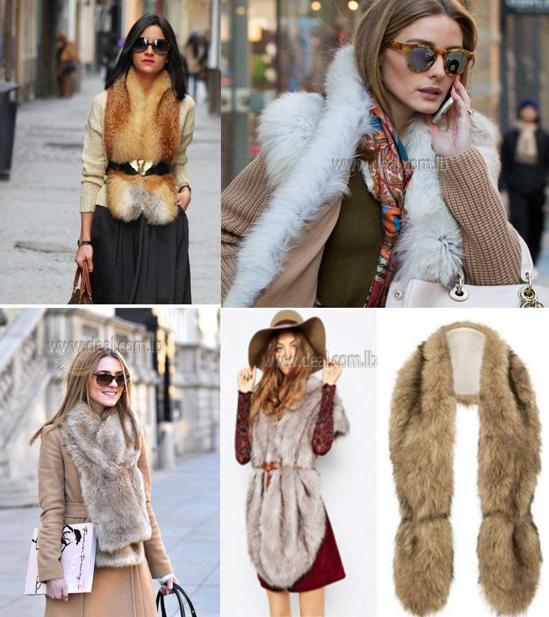 New  Long Faux Fur Scarf